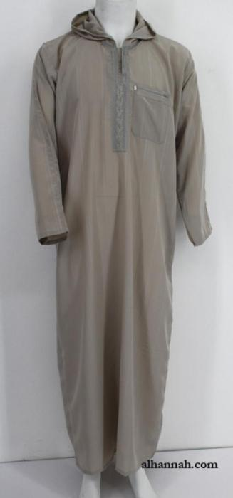 Deluxe Moroccan Hooded Dishdasha me654