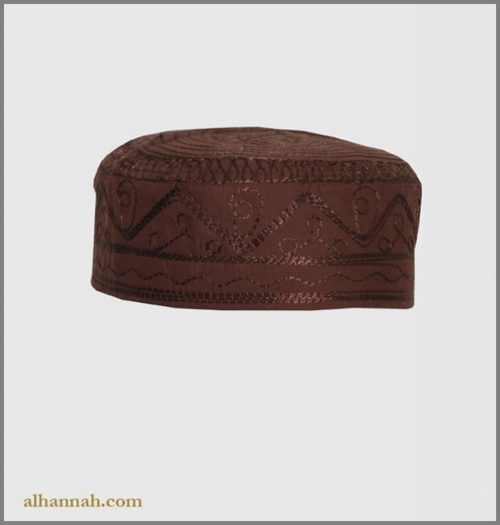 Men's Solid Kufi with Embroidery me658
