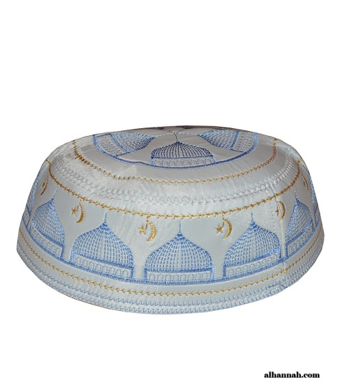 Dome  Crescent and Star Pattern Kufi me675