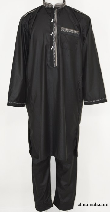 Mens Black Salwar Kameez Set me688