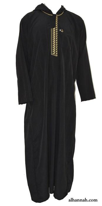 Mens Hooded Embroidered Dishdasha me695