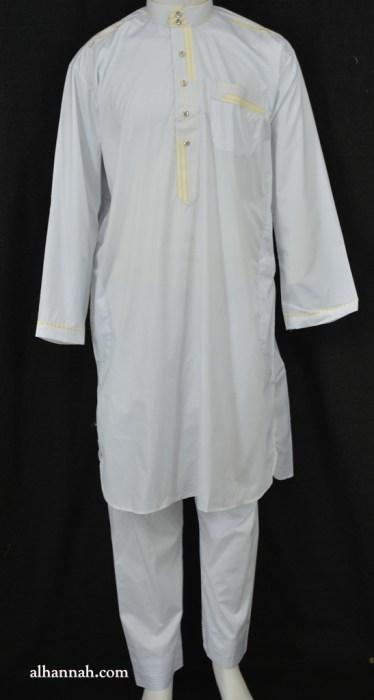 Mens Embroidered Fitted Salwar Kameez Set me698