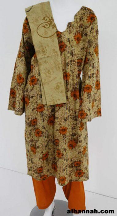 Floral Print Cotton Salwar Kameez  sk1100