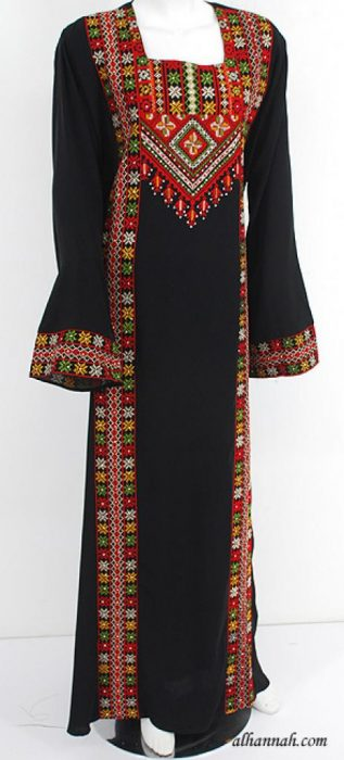 Deluxe Embroidered Palestinian Fellaha Dress  th741