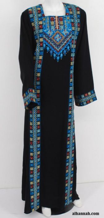Amani Embroidered Palestinian Fellaha Dress th753