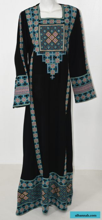 Faizah Embroidered Palestinian Fellaha Thobe th764
