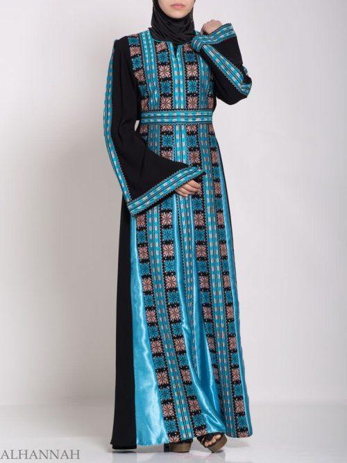 Asma Embroidered Palestinian Fellaha Thobe th768 (2)