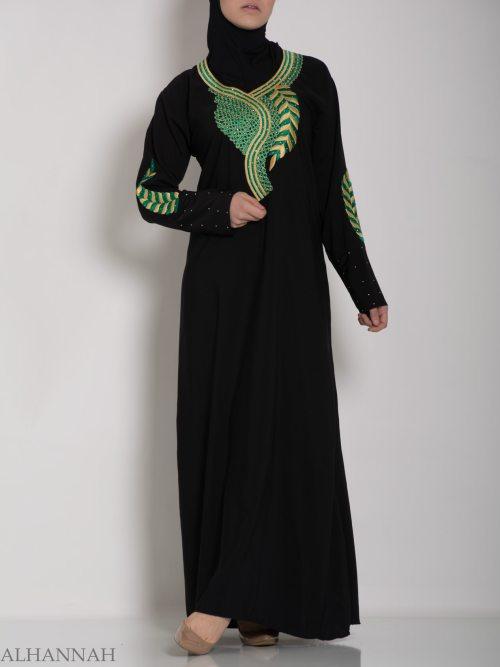 Authentic Khaliji Pull Over Abaya ab577 (4)
