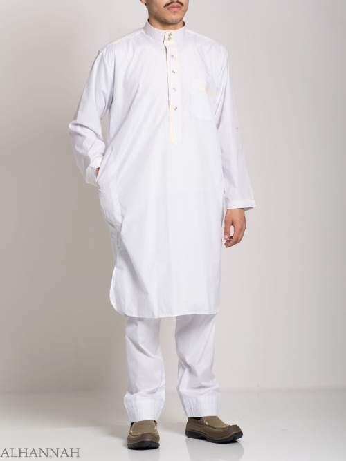 Deluxe Mens Salwar Kameez with Contrasting Trim me683 (3)
