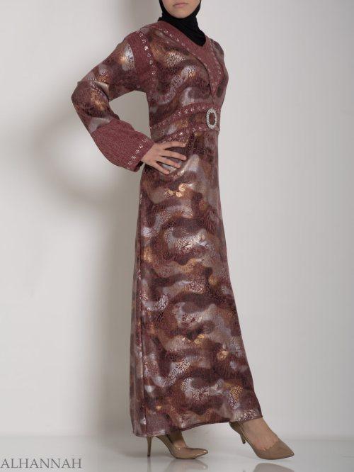 Egyptian Stretch Melange Abaya ab625 (4)