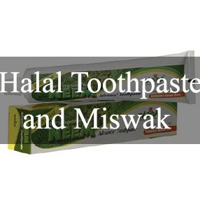 Halal Toothpaste and Miswak Sticks