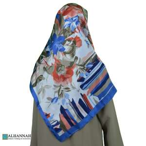 Tropical Print Turkish Satin Hijab hi2079