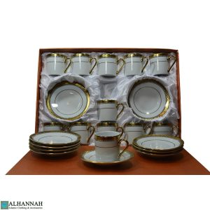 Turkish Coffee Set White & Gold