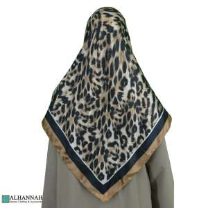 Turkish Satin Jungle Print Hijab hi2083