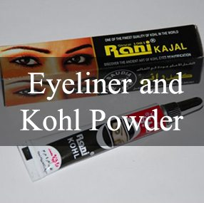 Eyeliner, Kajal, and Kohl Powder