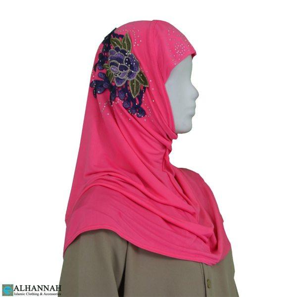 Amira Hijab Flower Applique