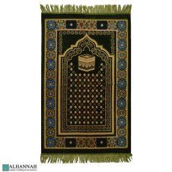 Islamic Prayer rug Floral Border and Kaaba