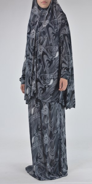 Abstract Swirls and Paisley Print Two Piece PrayerOutfit ME426