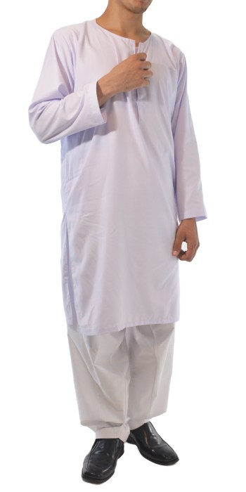 Men's Solid Color Kurta Shirt with Button up Front and Side pockets Soft Cotton ME718 white