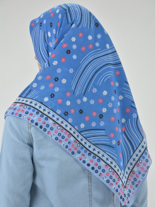 Floral Breeze Print Square Hijab HI2120 (3)