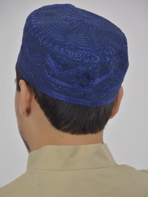 Spiraling Zigzags Embroidered Kufi ME737 (6)