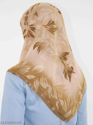 Hojas de ramificación Imprimir Hijab cuadrado HI2150 (3)