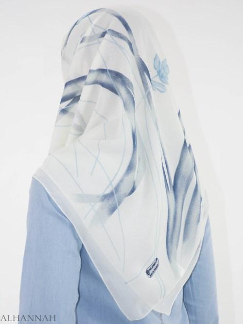 Looped Floral Square Hijab HI2151 (3)