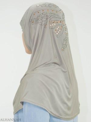 Rhinestone mariposa de una sola pieza Al-Amira Hijab HI2139 (5)