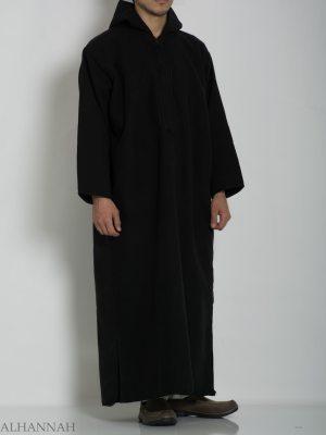 Mezcla de lana premium con capucha marroquí Thobe ME753 (5)