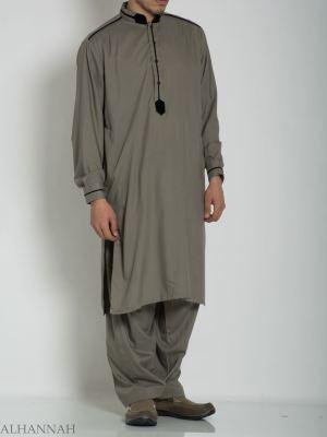 Terciopelo alineado Salwar Kameez ME764 (9)