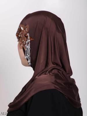 Brillante-Flor de una sola pieza Al-Amira Hijab hi2160 (1)