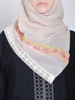 Golden Lined Sequine Hijab