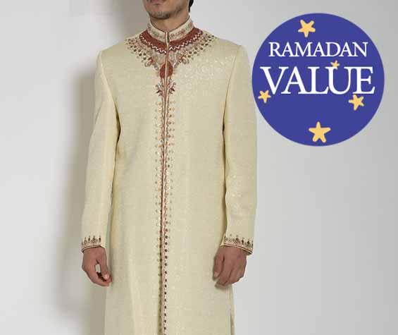 Ropa hombre-musulmana-islámica-Sherwani-Chaquetas-Ramadán-Eid-51818