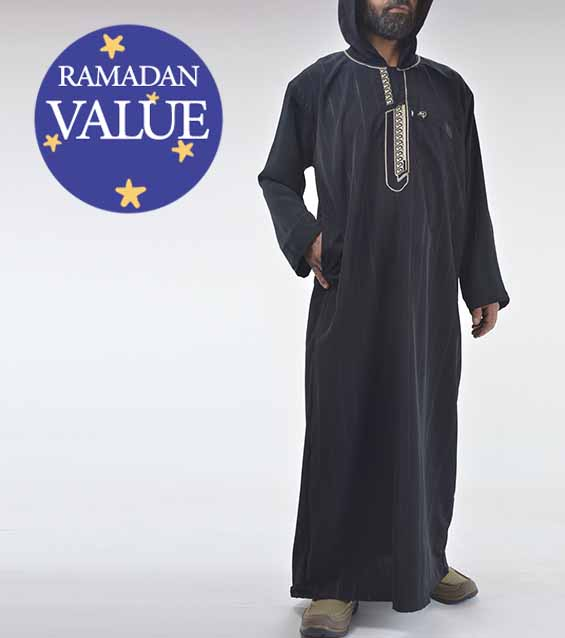 Hombre-Musulmán-Islámico-Ropa-con capucha-Marroquí-Thobe-valor-especial-Ramadan-Eid-51818