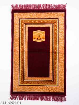 Turkish Prayer Rug Red Geometric Kaaba Motif ii1146