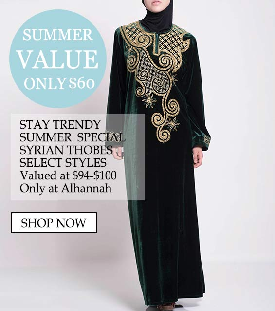 womens muslim islamic clothing comfortable thobes summer special 7-4-18