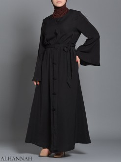 Black pull over Rayon Arabian Abaya ab727 (3)