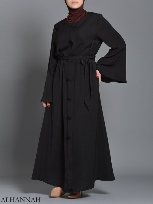 Black pull over Rayon Arabian Abaya ab727 (3)