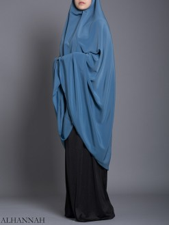 Plain Solid Color Long Khimar hi2175 (1)