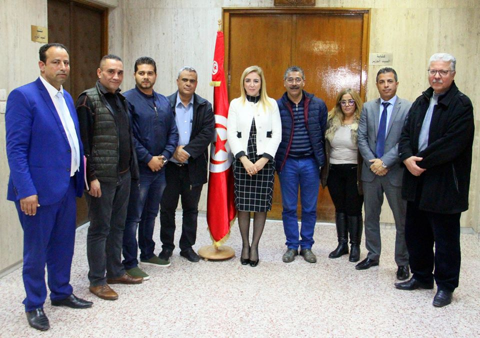 وزيرة الصحة تلتقي بأعضاء المكتب النقابي الجديد بالادارة المركزيّة