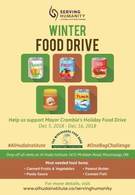 Winter Food Drive 2018