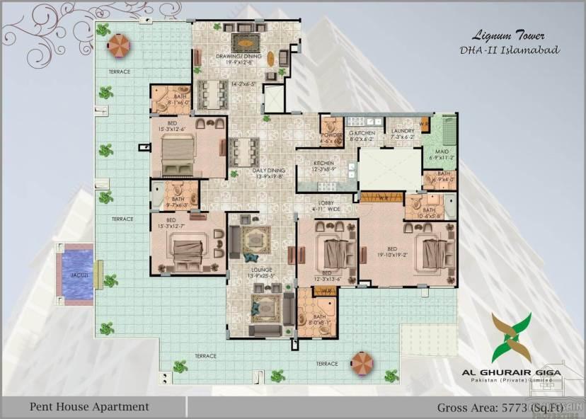 Pent House 5773 sft