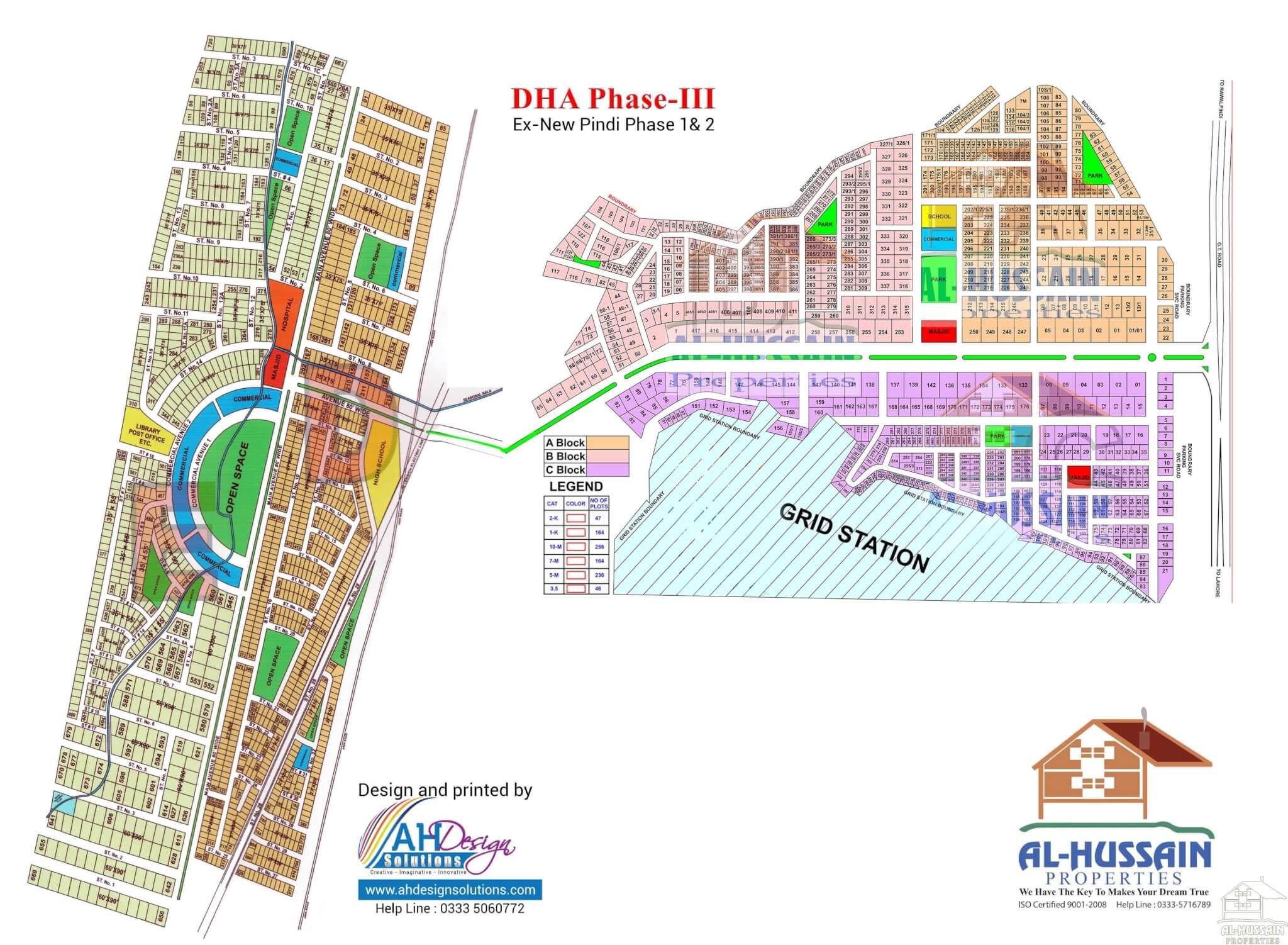 DHA Phase III Islamabad Map | Al Hussain Properties
