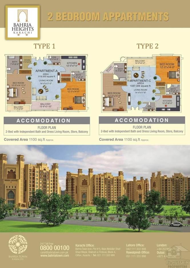 Bahria Town Karachi Apartments Al Hussain Properties