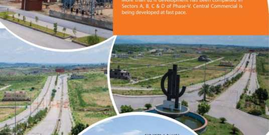 """500 sq.yards Plot in Sector """"F"""" DHA Phase V Islamabad"""