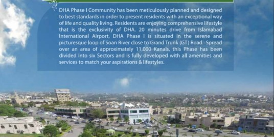500 sq.yards Park facing Plot in DHA Phase 1 Islamabad
