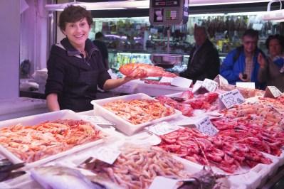 puesto de pescado. Mercado Central