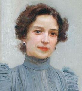 Retrato que Sorolla hizo de su mujer Clotilde.