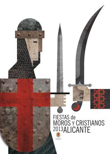 Fiestas de Mig Any de los Moros y Cristianos de Villafranqueza, Alicante 2013