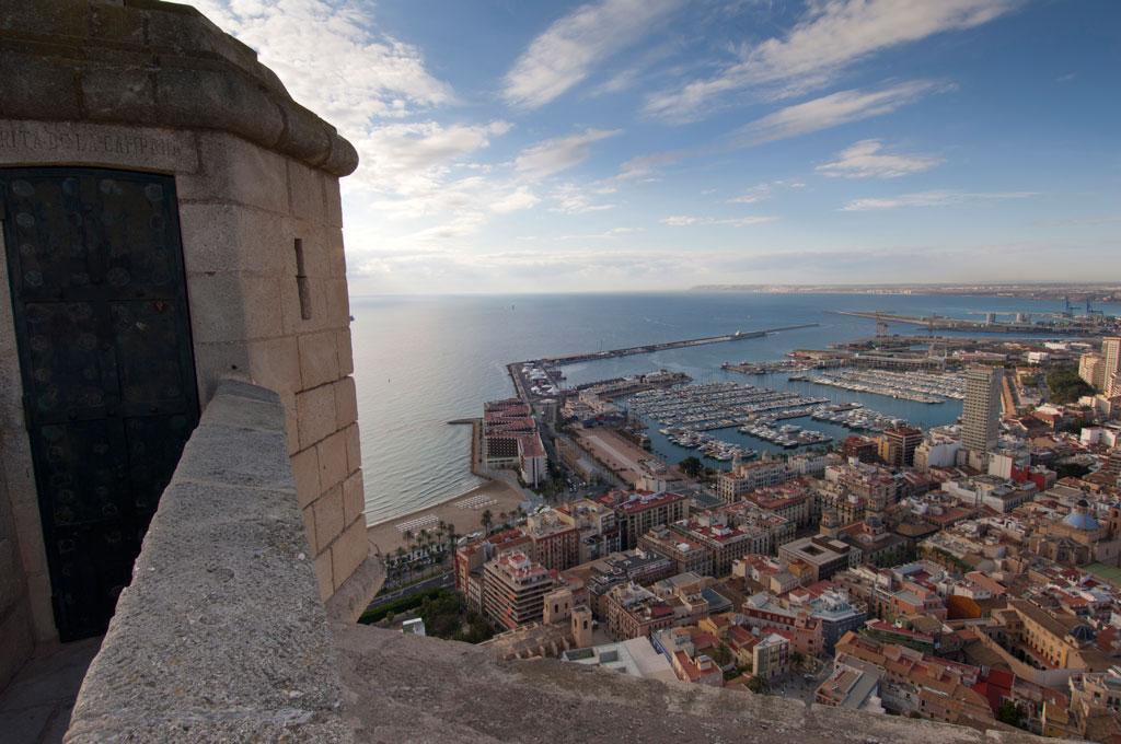 castillo y vistas de alicante
